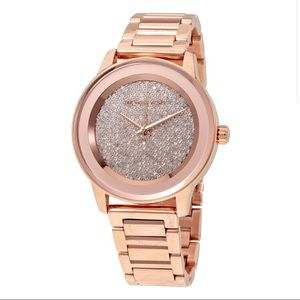 New MK Women's Rose Gold Diamond Face Watch 💯🔥